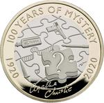 United Kingdom / Two Pounds 2020 Agatha Christie - reverse photo