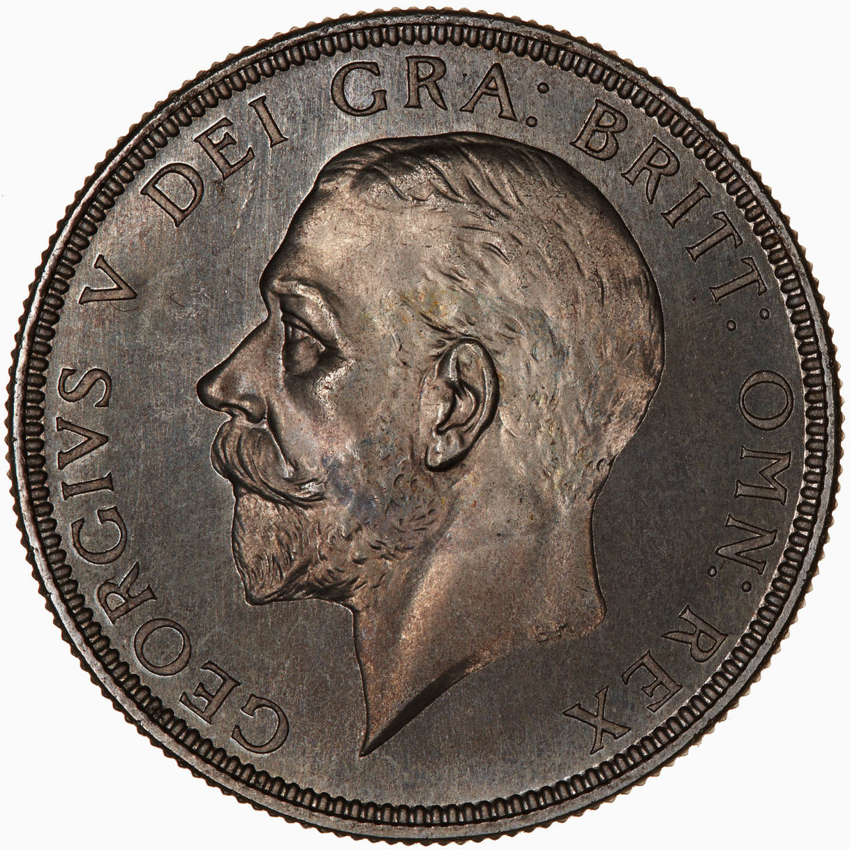 Florin George V Second Issue: Photo Proof Coin - Florin (2 Shillings), George V, Great Britain, 1928