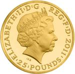 United Kingdom / Gold Quarter Ounce 2011 Apollo - obverse photo