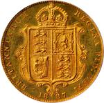 Half Sovereign 1887 Jubilee head