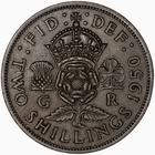 Florin 1950: Photo Coin - Florin (2 Shillings), George VI, Great Britain, 1950