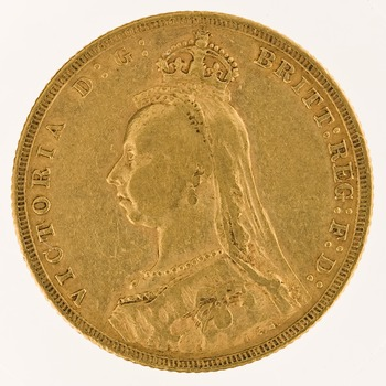 Sovereign 1889: Photo Gold sovereign, London (England)
