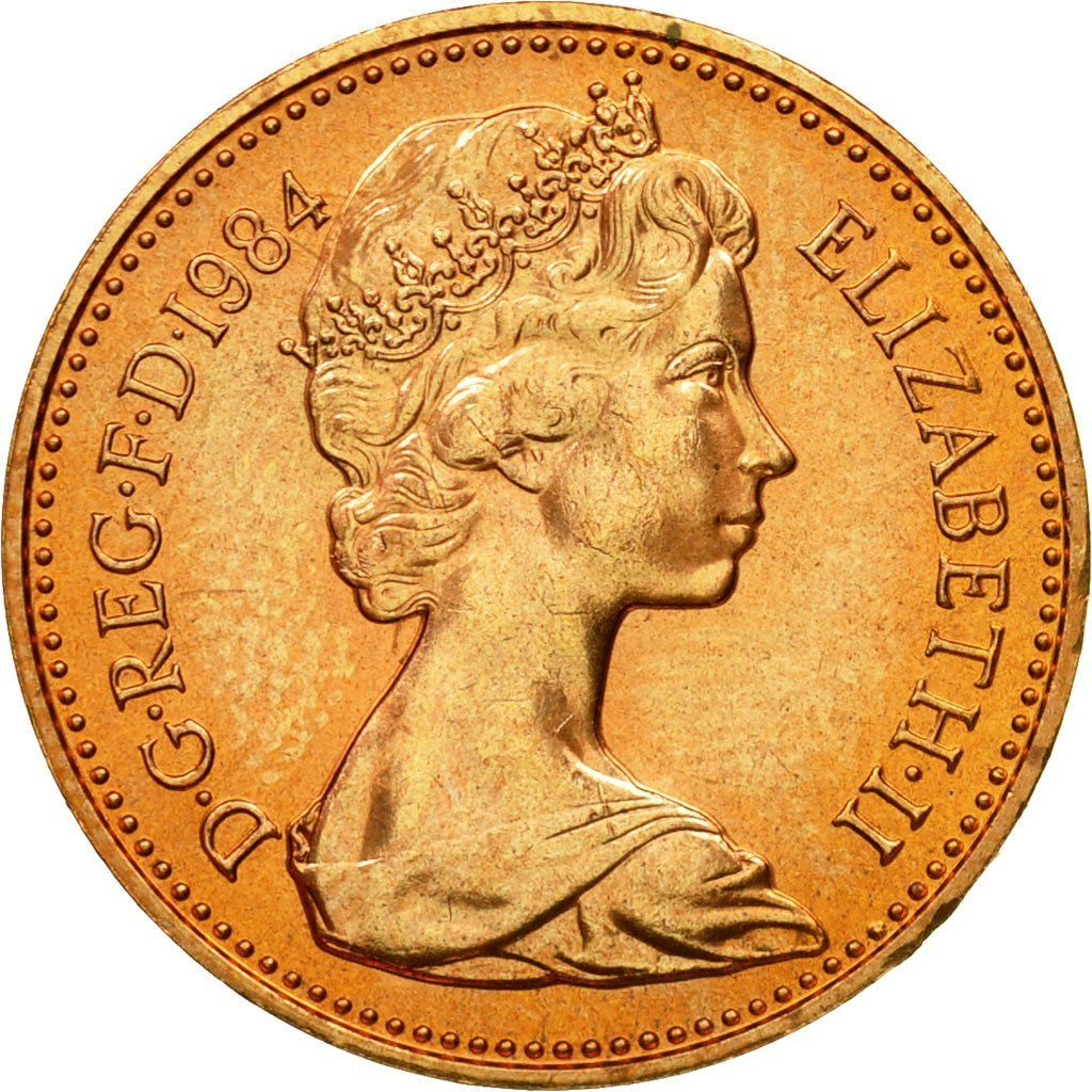 One Penny 1984: Photo Coin, Great Britain, Elizabeth II, Penny, 1984