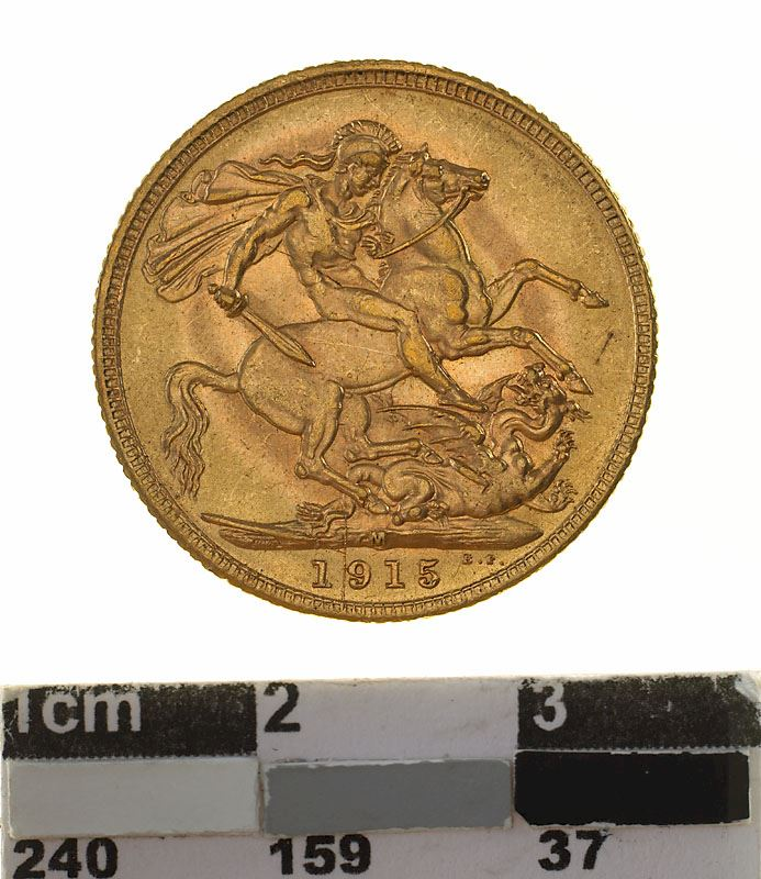Sovereign 1915: Photo Coin - Sovereign, Victoria, Australia, 1915
