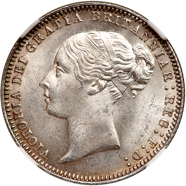 Sixpence Wreath (First Design): Photo Coin - Sixpence, Queen Victoria, Great Britain, 1838