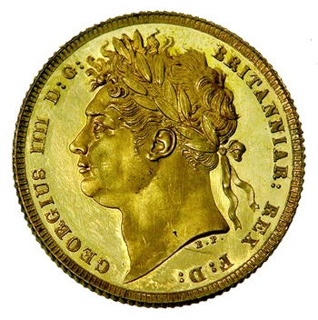 Sovereign 1821: Photo Gold sovereign, London (England)