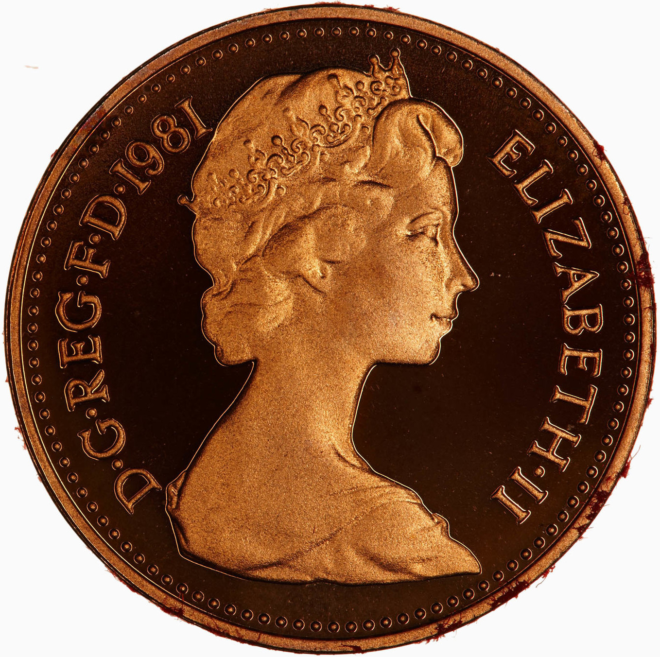 Half Penny 1981: Photo Proof Coin - 1/2 New Penny, Elizabeth II, Great Britain, 1981