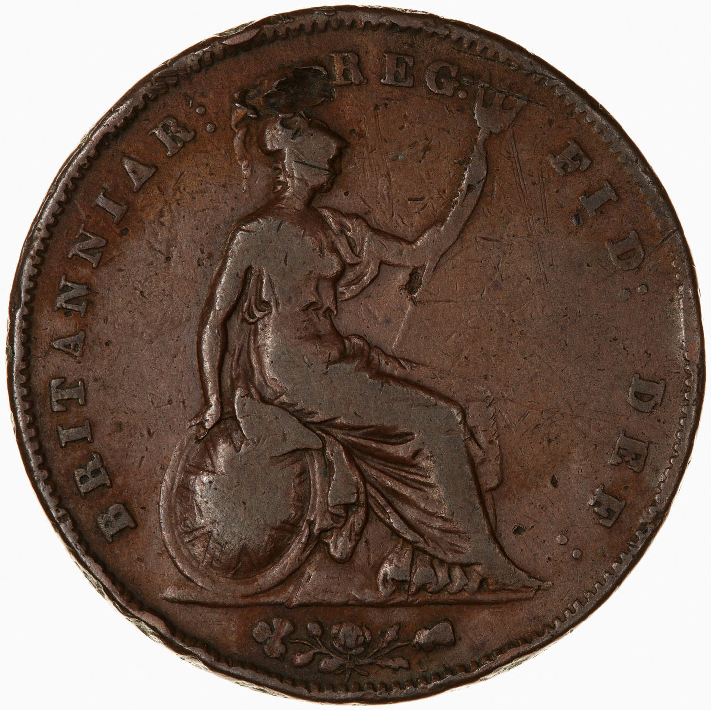 Penny 1851: Photo Coin - Penny, Queen Victoria, Great Britain, 1851