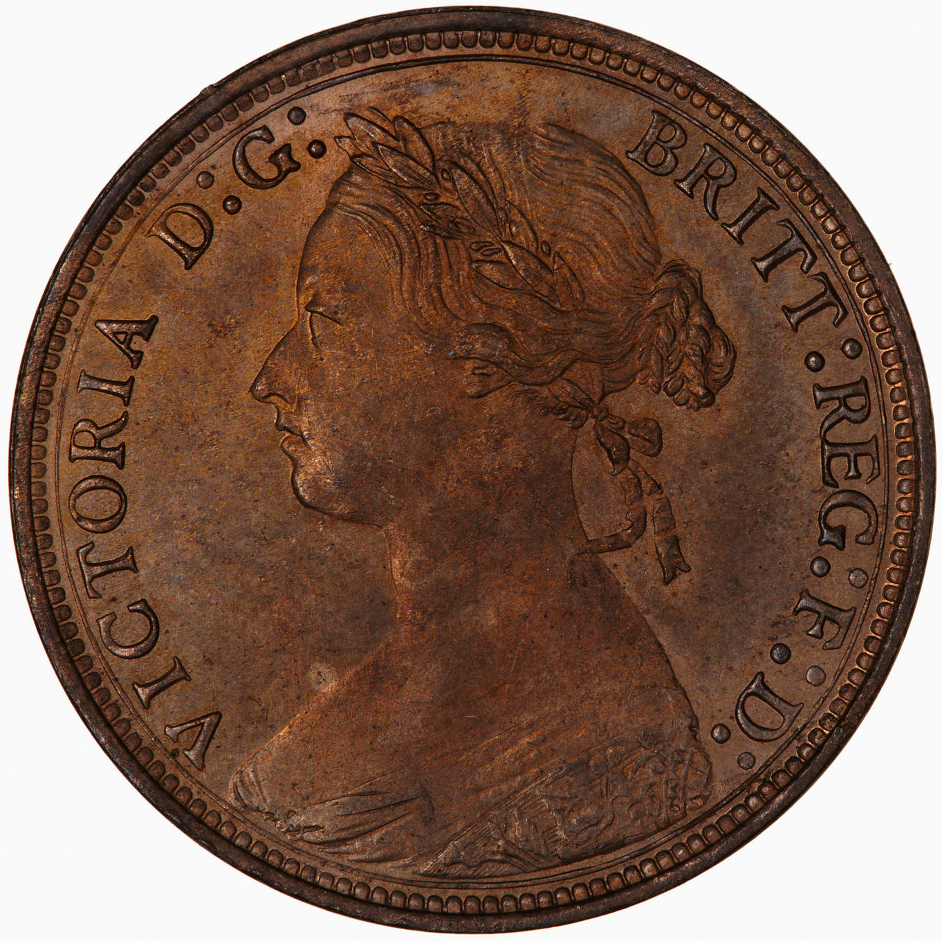 Halfpenny 1879: Photo Coin - Halfpenny, Queen Victoria, Great Britain, 1879