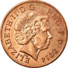 United Kingdom / Two Pence 2014 - obverse photo