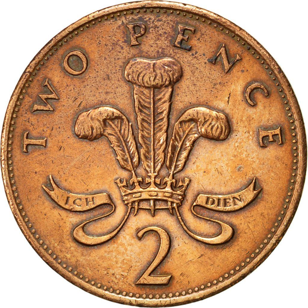 Two Pence 1990: Photo Great Britain, Elizabeth II, 2 Pence, 1990