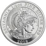 United Kingdom / Silver Quarter Ounce 2018 Britannia - reverse photo