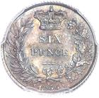 United Kingdom / Sixpence 1866 - reverse photo