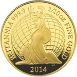 United Kingdom / Gold Tenth-Ounce 2014 Britannia (Proof) - reverse photo