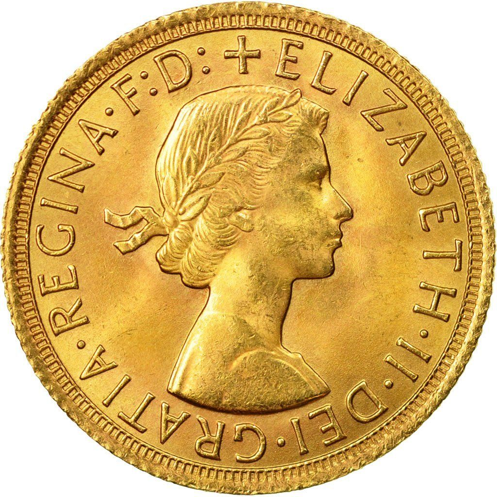 Sovereign 1965: Photo Coin, Great Britain, Elizabeth II, Sovereign, 1965