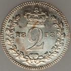 Twopence 1853 (Maundy): Photo Great Britain 1853 2 pence