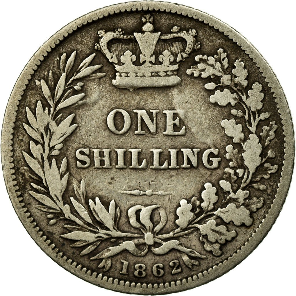 Shilling 1862: Photo Coin, Great Britain, Shilling, 1862