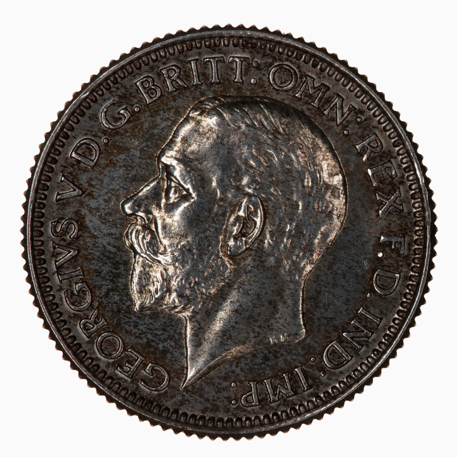 Sixpence: Photo Proof Coin - Sixpence, George V, Great Britain, 1928