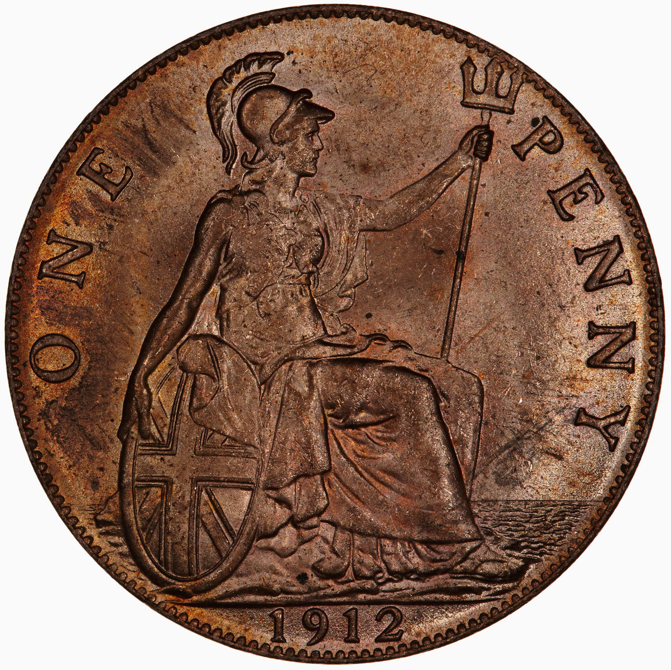 Penny 1912: Photo Coin - Penny, George V, Great Britain, 1912