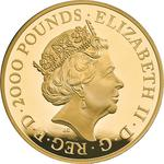 United Kingdom / Gold Two Kilos 2019 Una and the Lion - obverse photo