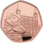 United Kingdom / Fifty Pence 2019 Paddington Bear at the Tower / Gold Proof FDC - reverse photo