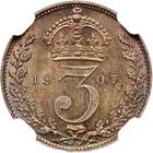 Threepence 1907 (Maundy): Photo Great Britain 1907 3 pence