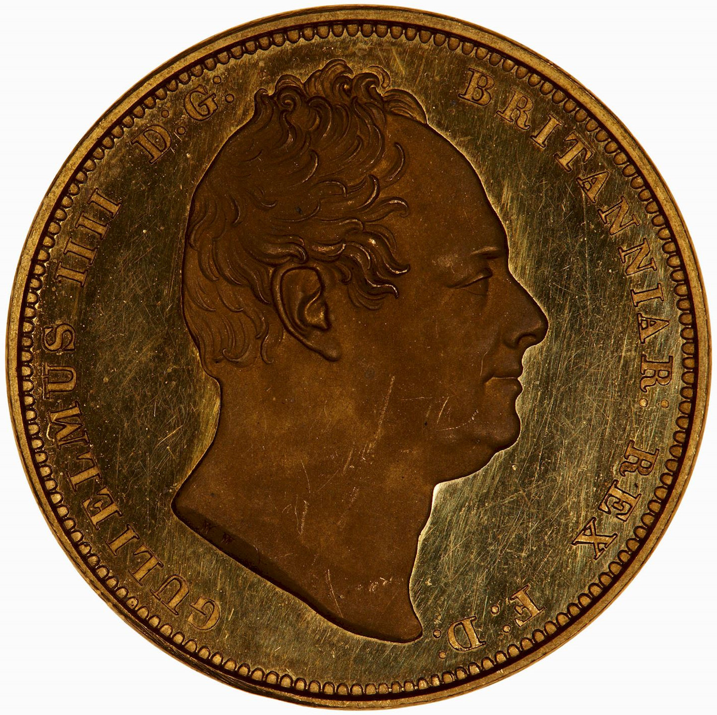 Two Pounds (Pre-decimal): Photo Proof Coin - 2 Pounds, William IV, Great Britain, 1831