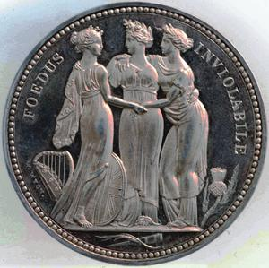 United Kingdom / Crown Pattern 1817 The Three Graces - reverse photo