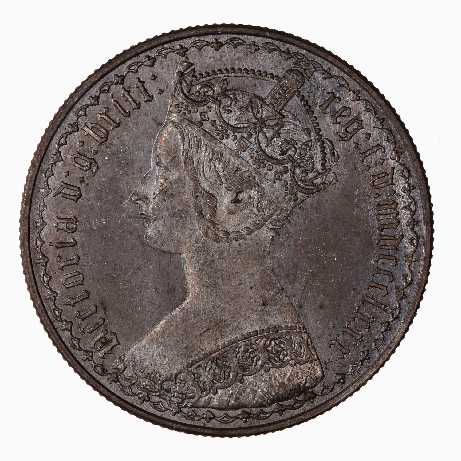 Florin 1880: Photo Coin - Florin, Queen Victoria, Great Britain, 1880