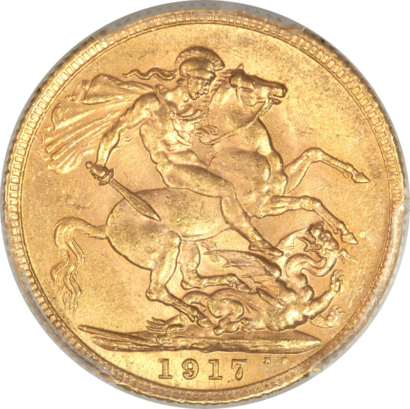 Sovereign 1917: Photo Great Britain 1917 sovereign