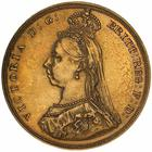 United Kingdom / Sovereign 1887 St George, Jubilee head - obverse photo