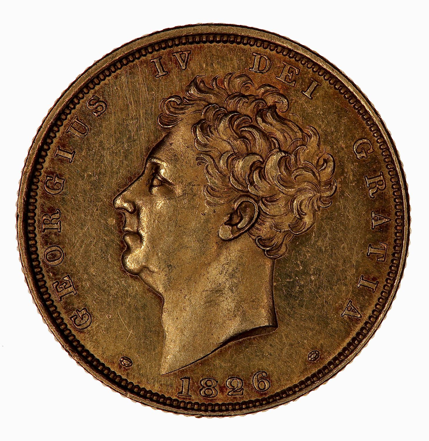 Sovereign 1826: Photo Coin - Sovereign, George IV, Great Britain, 1826