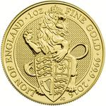 United Kingdom / Gold Ounce 2016 Lion of England - reverse photo