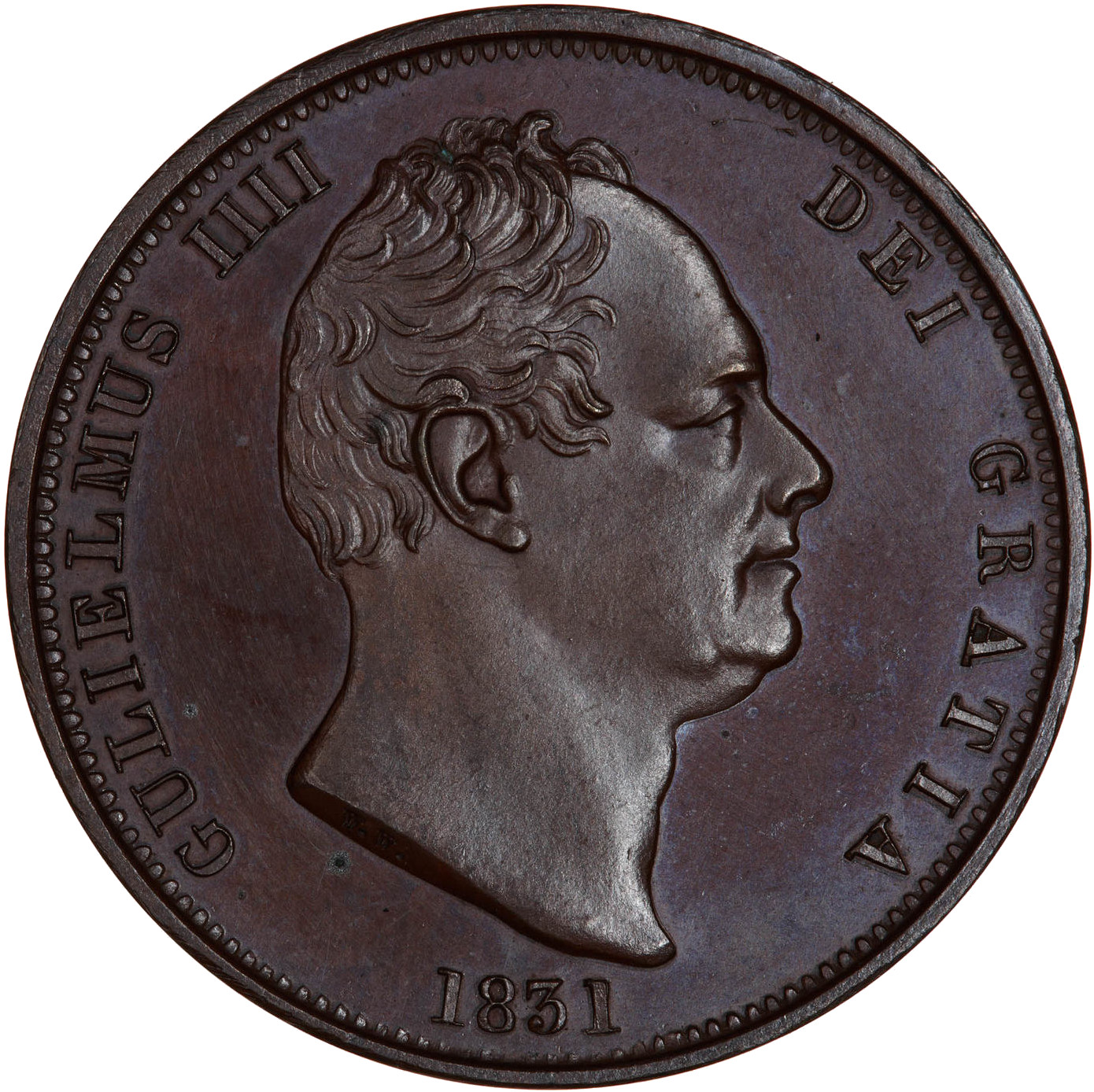 Halfpenny (Britannia, second design): Photo Coin - Halfpenny, William IV, Great Britain, 1831