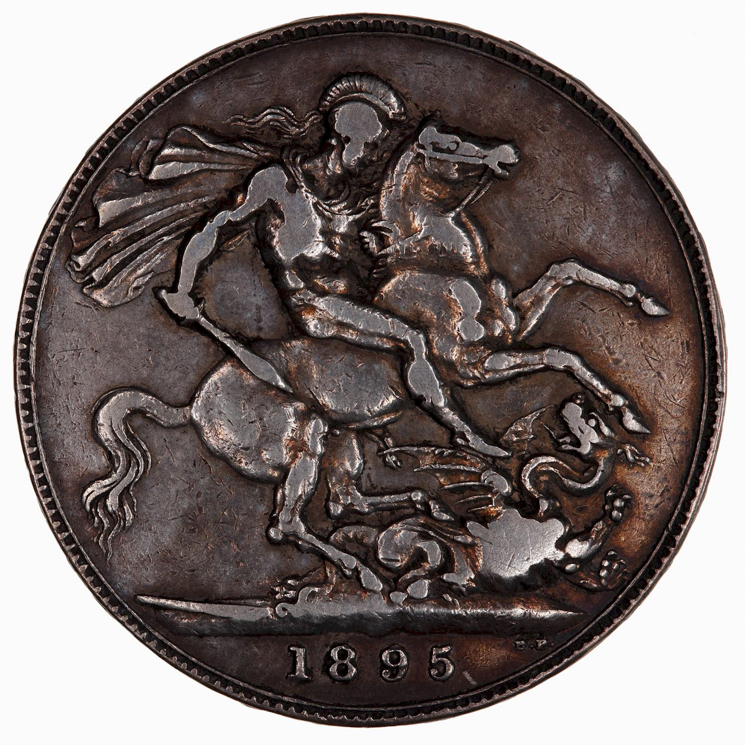 Crown 1895: Photo Coin - Crown, Queen Victoria, Great Britain, 1895