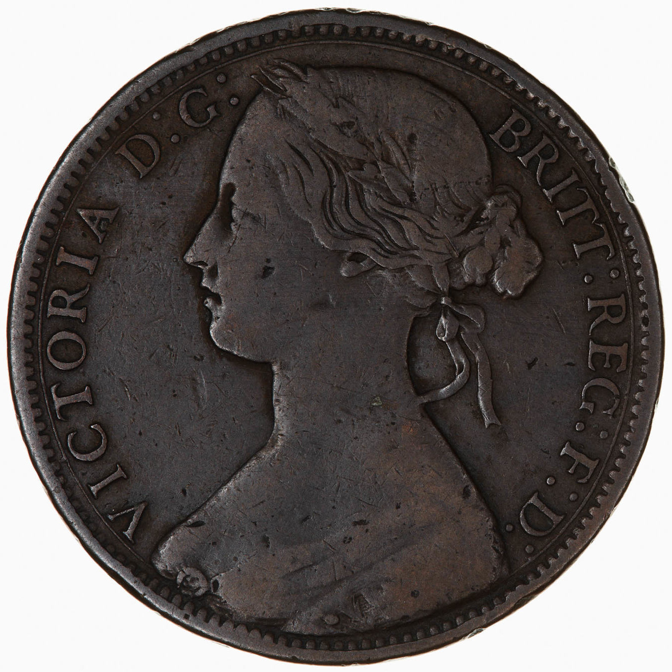 Penny 1866: Photo Coin - Penny, Queen Victoria, Great Britain, 1866