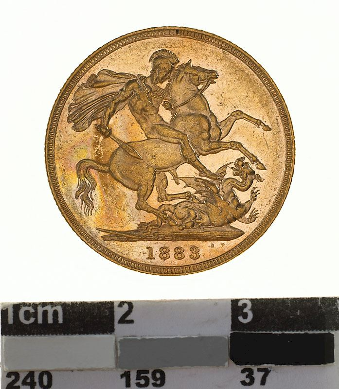Sovereign 1883 St George: Photo Coin - Sovereign, Victoria, Australia, 1883
