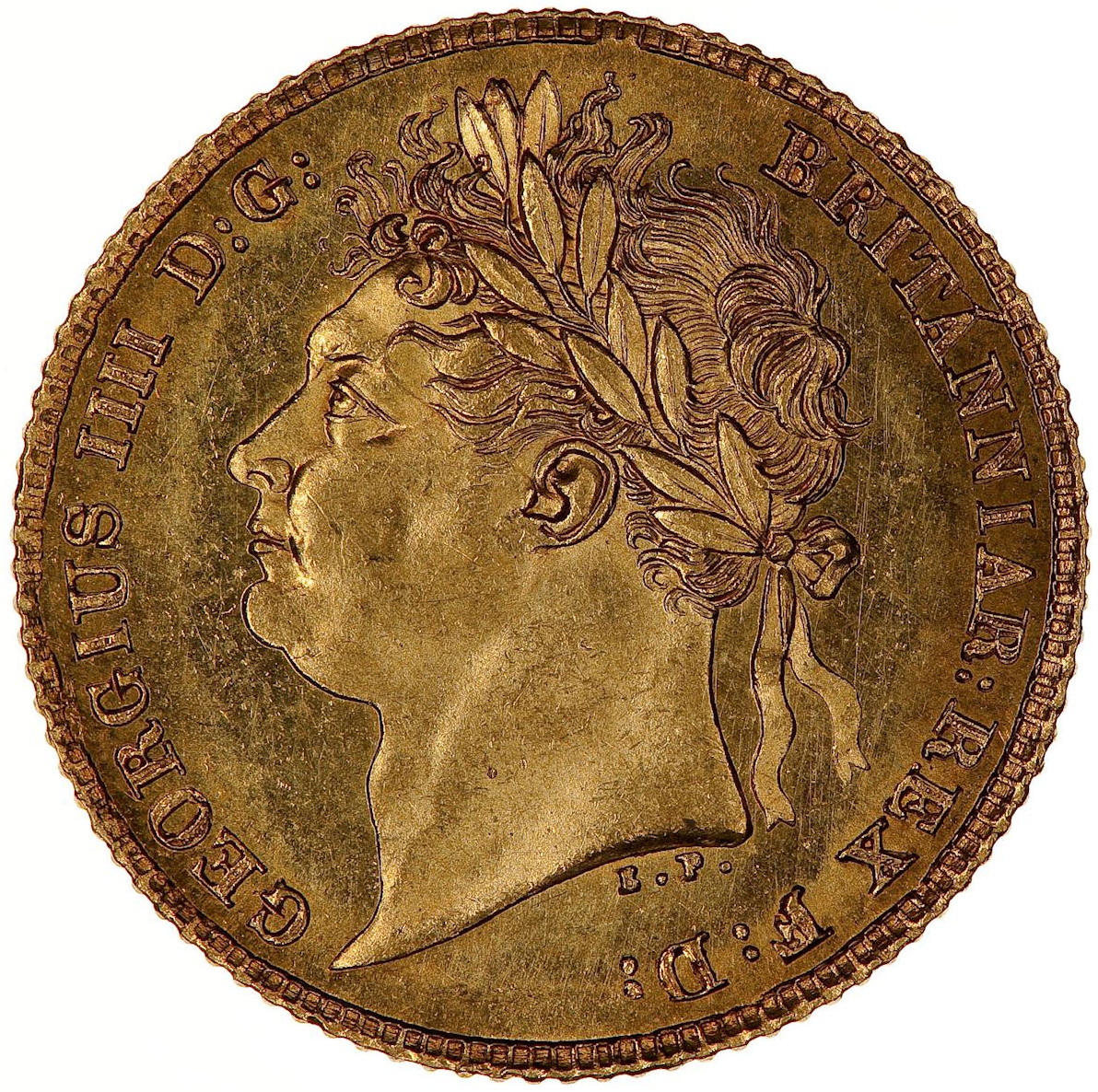 Half Sovereign (Pre-decimal): Photo Coin - Half-Sovereign, George IV, Great Britain, 1824