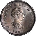 United Kingdom / Halfpenny 1806 - obverse photo