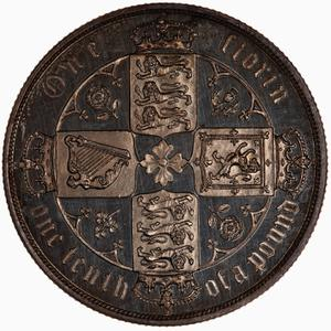 United Kingdom / Florin 1880 - reverse photo