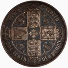Florin 1880: Photo Proof Coin - Florin, Queen Victoria, Great Britain, 1880
