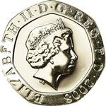 United Kingdom / Twenty Pence 2008 (Dent design) - obverse photo