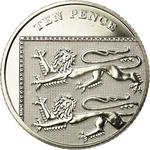 United Kingdom / Ten Pence 2008 (Dent design) - reverse photo