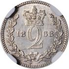 Twopence 1868 (Maundy): Photo Great Britain 1868 2 pence