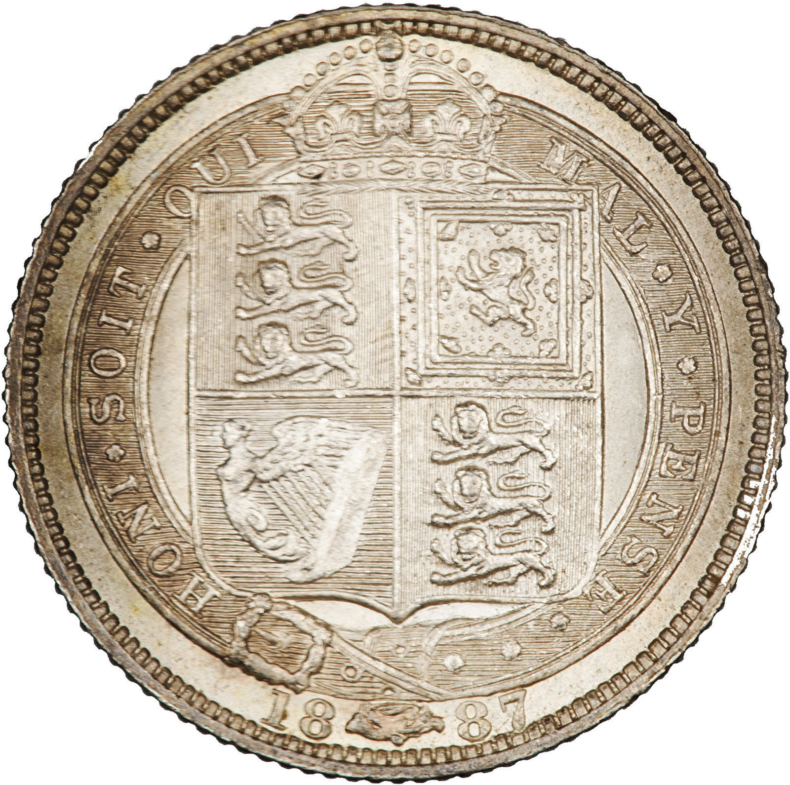Sixpence: Photo Coin - Sixpence, Queen Victoria, Great Britain, 1887