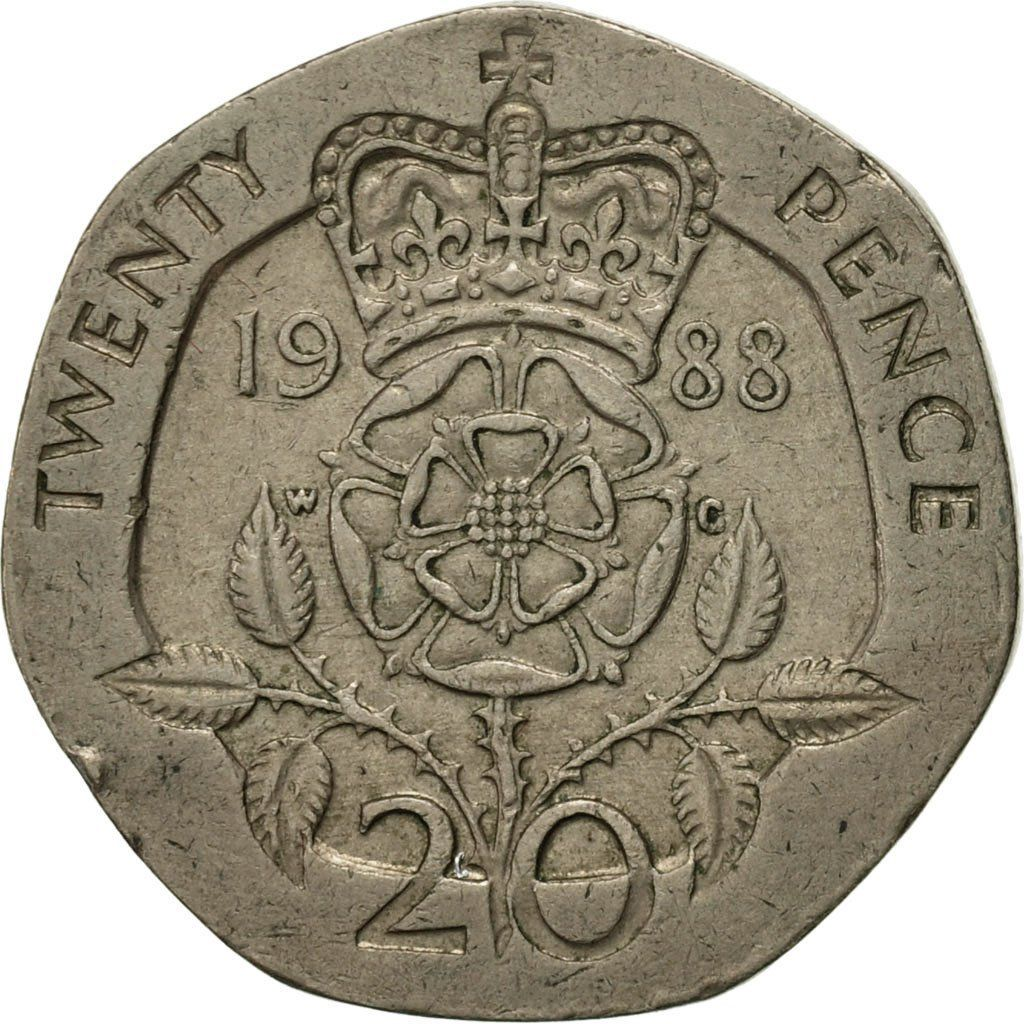 20 pence 1988 coin value