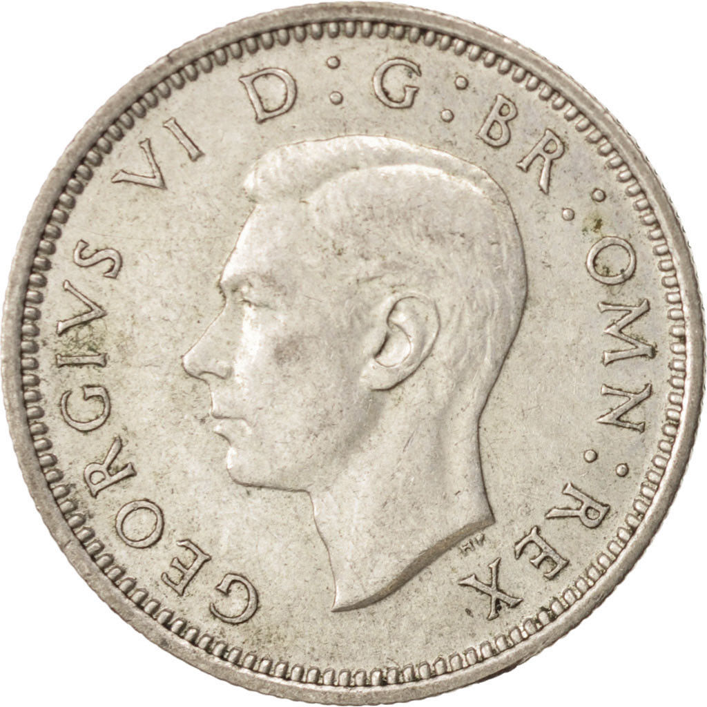 Sixpence 1945: Photo Coin, Great Britain, George VI, 6 Pence