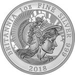 United Kingdom / Silver Ounce 2018 Britannia (Proof) - reverse photo
