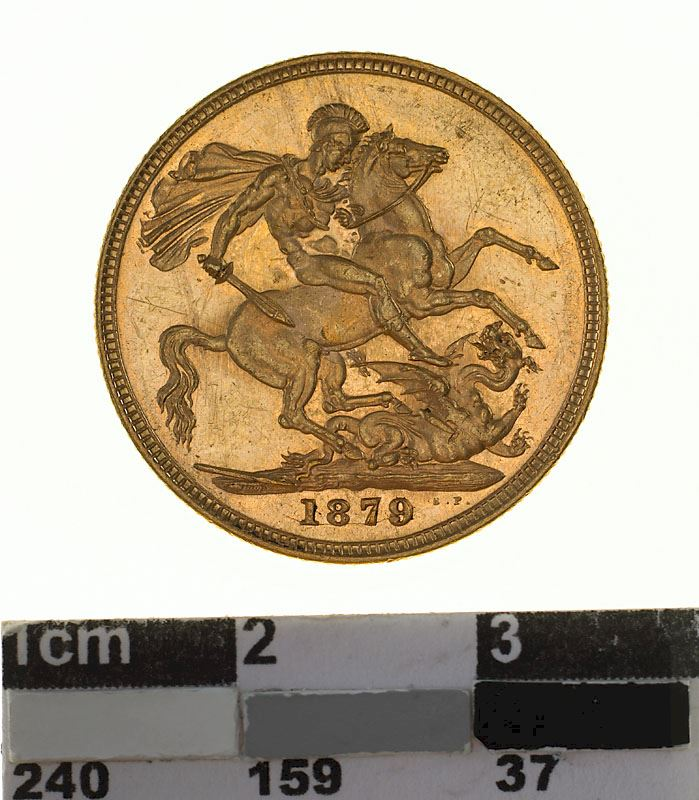Sovereign 1879 St George: Photo Coin - Sovereign, Victoria, Australia, 1879