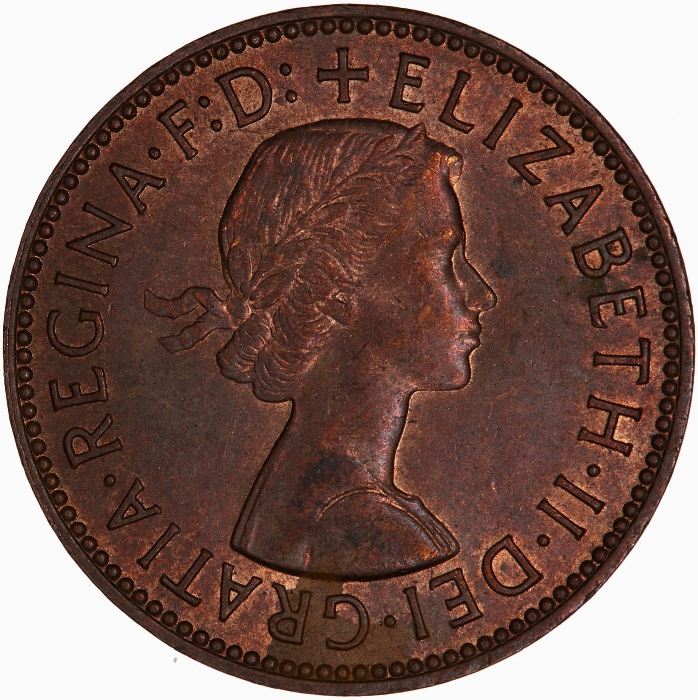 Halfpenny 1967: Photo Coin - Halfpenny, Elizabeth II, Great Britain, 1967